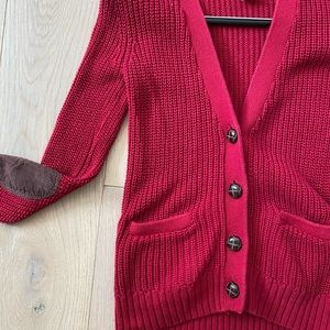 Red Mossimo Co. knitted cardigan
